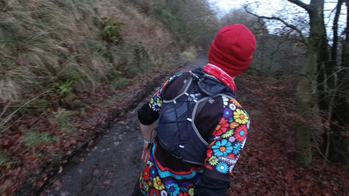 Ultraboyruns in his MyOddballs top and Harrier Running Kinder 10 litre running vest